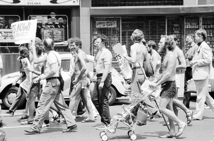 Gay rights demonstration at the Democratic National Convention in 1976.