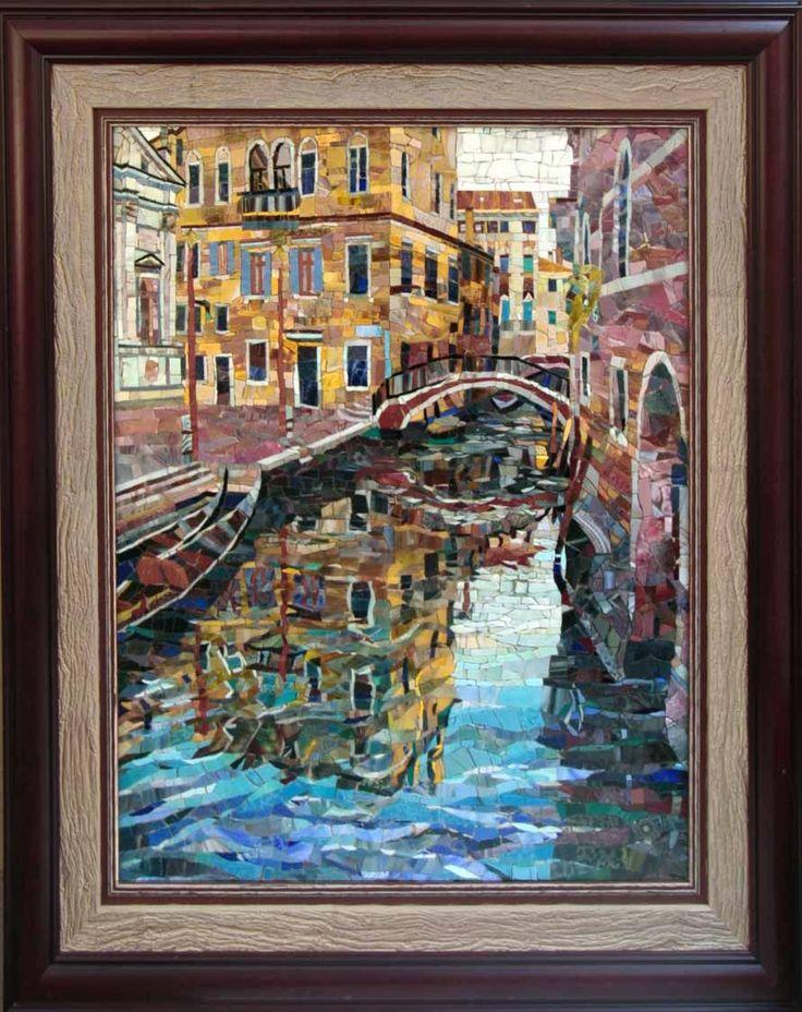 Мозаичная картина Вспоминая Бродского (Венецианский цикл)