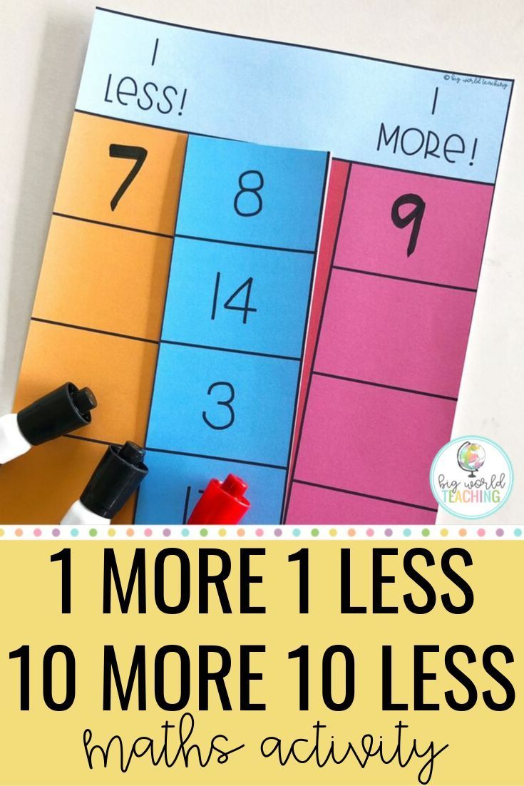 1 More 1 Less 10 More 10 Less Maths Activity Are You Looking For A Fun Engaging And Hands On Activity For Number Math Activities Math Center Activities Math [ 1102 x 735 Pixel ]