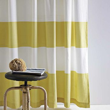 CHICHI... You can make them longer by cutting up and sewing together....I love the Stripe Shower Curtain on westelm.com