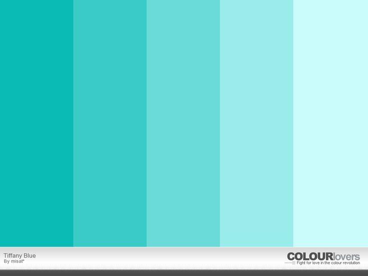 AZUL TIFFANY  Suvinil: Catálogo pág. 86  Cores A 063 (mais clara) B 063 (intermediária) C 063 ( mais escura)    Coral: Catálogo pág, 126  Cores 6937 (mais clara) 9593 ( intermediária)    Se quiser uma cor mais precisa, tente achar alguém que tenha um catálogo Pantone e veja a cor 3262 ou 3265.