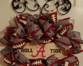 Alabama Football Wreath Bama Door Wreath Alabama Wreath