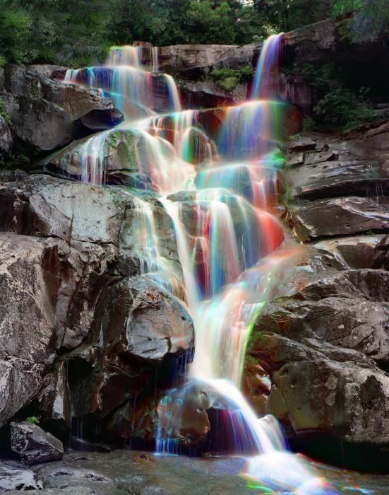 The beauty of nature :) ✮ Rainbows in Ramsey Cascades - Great Smokey Mountain National Park USA