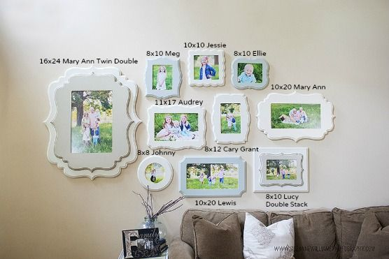 DBT exclusively carries these Organic Bloom Frames Here collage with sizes