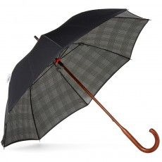 London Undercover Classic Double Layer Umbrella (Black & Prince of Wales)