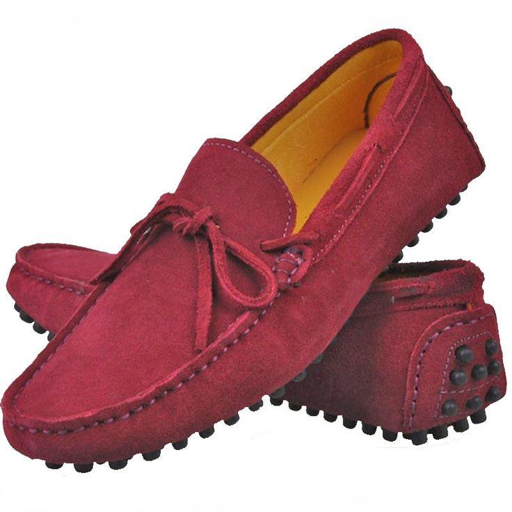 13 Cores tamanho EUA 5-12 Masculino De Couro Slip-on Casual Mocassim dirigir sapatos tipo