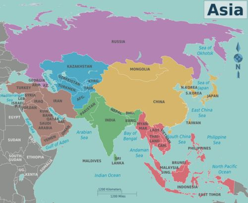 71 best maps Asia Pacific Region images on Pinterest Maps - best of world map at night korean