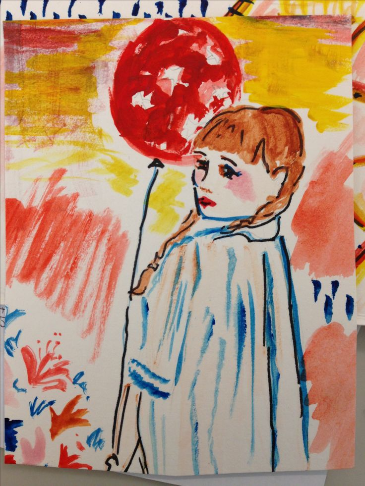 watercolor inspiration behind the ballet, 'Dream Deferred'  balloon girl- by jess ruhlin