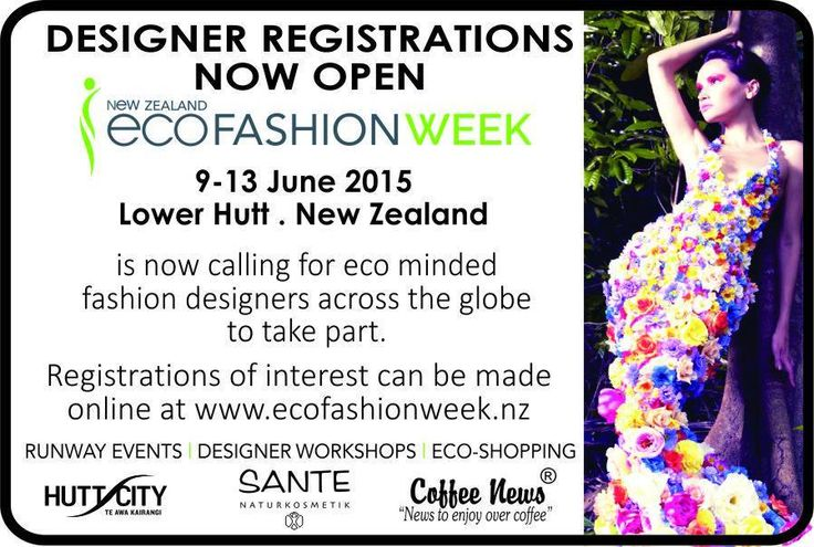 Thanks to new sponsors for 2015 - Coffee News for sharing our event world wide - also to local Coffee News distributor Krissy Firkin with helping sponsoring NZ Eco Fashion Week locally.