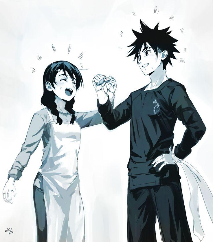 Shokugeki no Soma// Yukihira Soma and Tadokoro Megumi