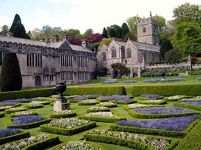 I like the repeated colours of purple & cream.Lanhydrock House, Cornwall
