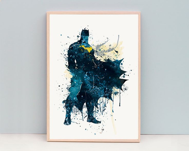 Superbe Batman Watercolor Print, Avengers Print, Comic Artwork, Marvel Wall Artu2026