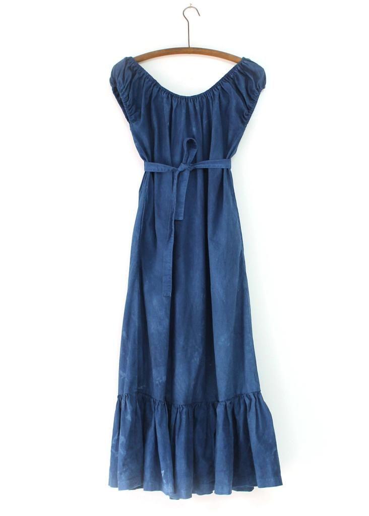 peasant dress / indigo