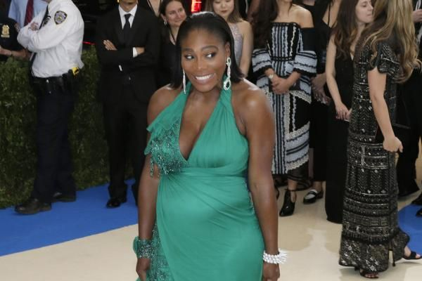 Tennis star Serena Williams denied she and Alexis Ohanian married in secret while discussing her pregnancy in a new interview.