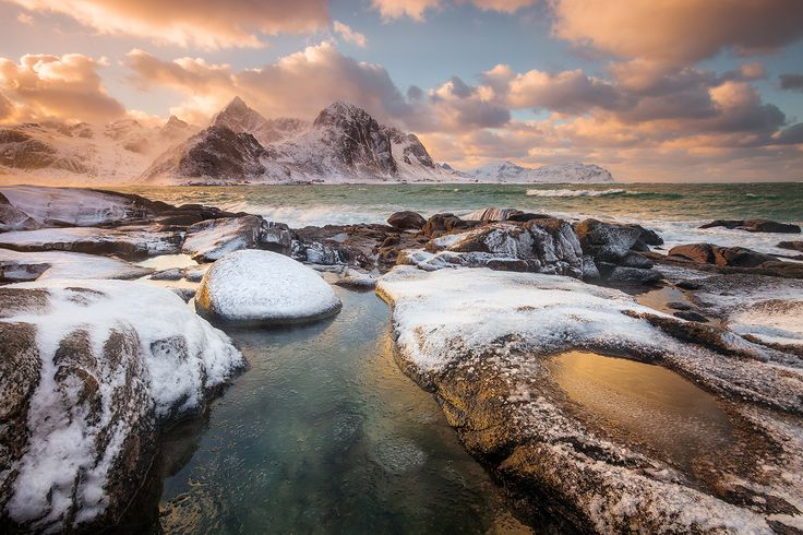 "The Bliss - The coast near Vareid village, Lofoten Islands, Norway  February 2015    ----ALWAYS CLICK ""M"" TO OPEN BIGGER VERSION----"