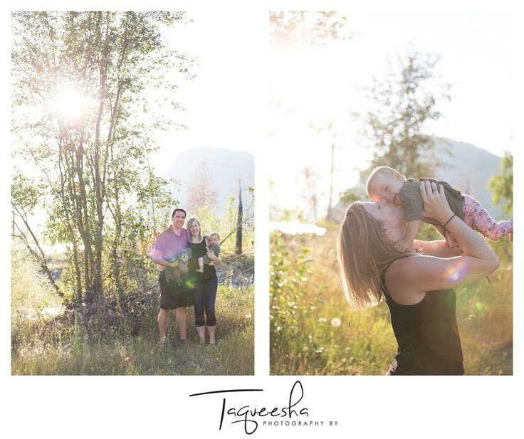 Kamloops Family Photographer, summer evening session. Field family photos.