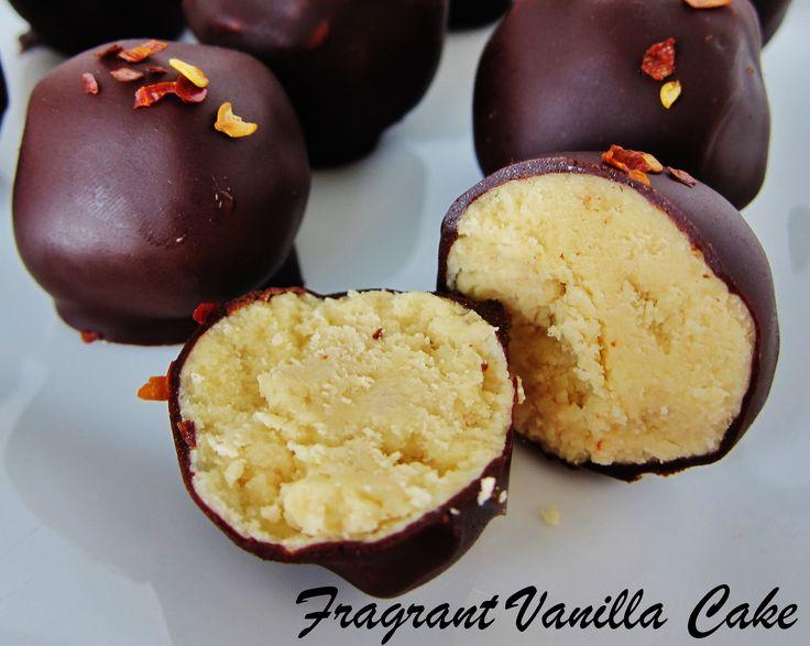 Raw Pineapple Chili Truffles from Fragrant Vanilla Cake