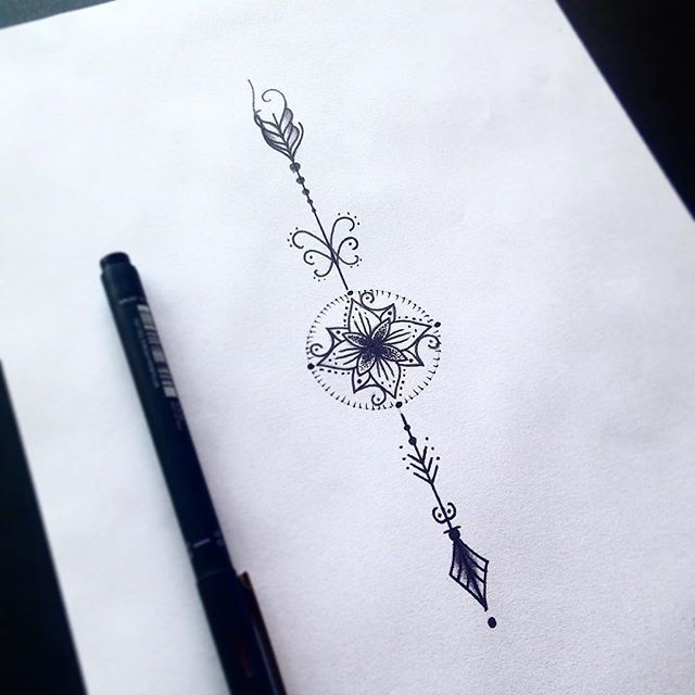 Resultado de imagem para tatuagem de flecha feminina