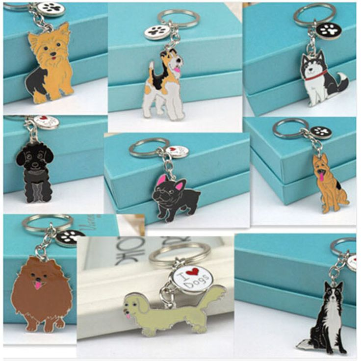 Pet dog key chain pendants schnauzer bulldog Tag key Chow keychains bulldog chihuahua Wholesale cheap sale keyring Drop shipping