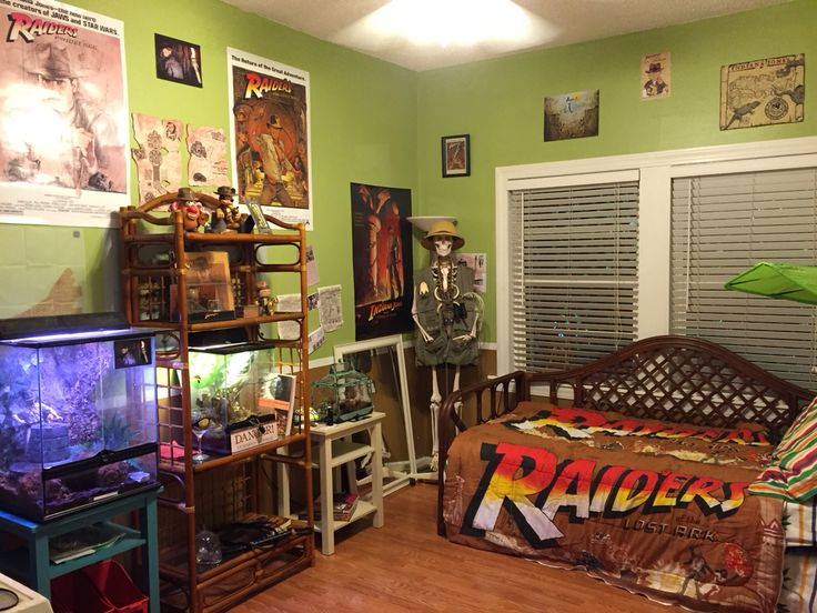 Indiana Jones guest room.