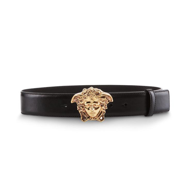 Striking black. Find more #Versace Men's belts on versace.com