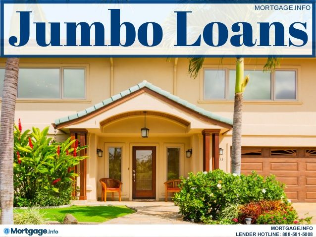 Jumbo Loan- Jumbo Loans are loan amounts that exceeds the conforming high- balance loan limits... Get more information here...