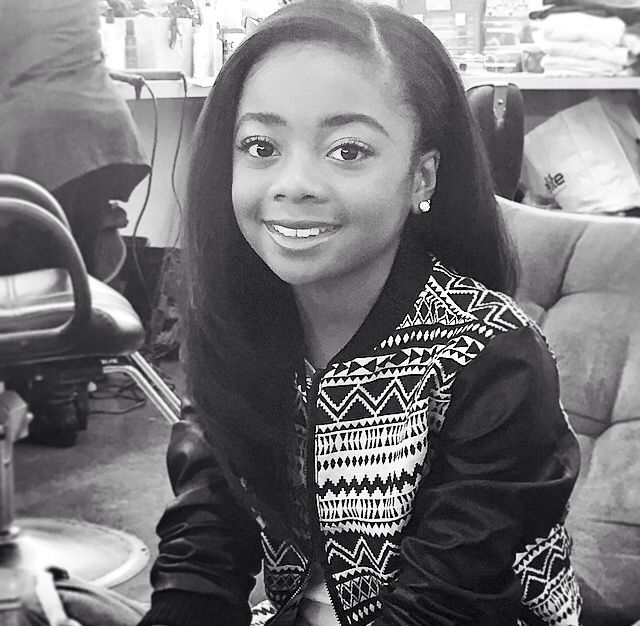 Skai Jackson. Straighten Hair