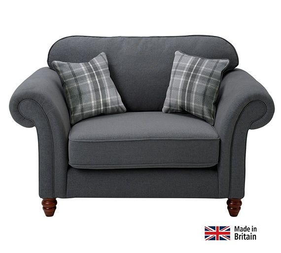 Buy Heart of House Windsor Cuddle Fabric Chair - Charcoal at Argos.co.uk, visit Argos.co.uk to shop online for Armchairs and chairs, Sofas, armchairs and chairs, Home and garden