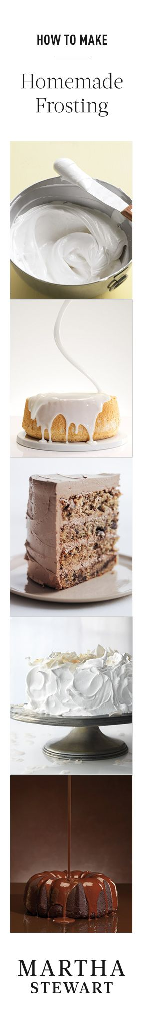 15 Homemade Frosting Recipes from Martha Stewart