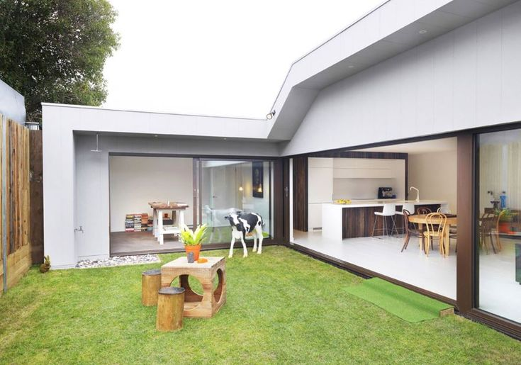 Casa de un piso con patio interior