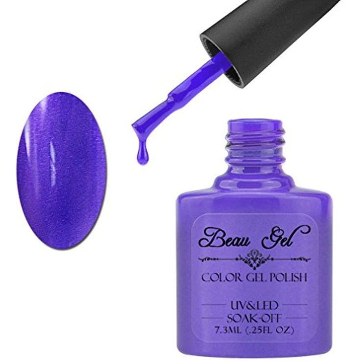 Beau Gel UV LED Soak Off Gel Nail Polish Color Lacquer 7.3ml Grape Gum *** For more information, visit image link. (This is an affiliate link and I receive a commission for the sales)