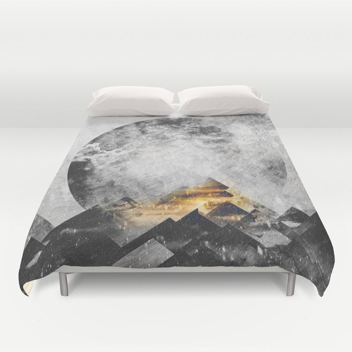 One mountain at a time - Black and white Duvet Cover by HappyMelvin | Society6