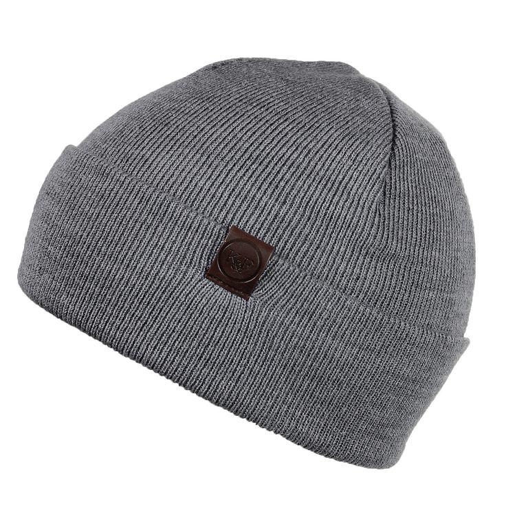 release date cfa41 62629 mens fold up beanie aston grey beanie hat ... c6439b1e3fdb