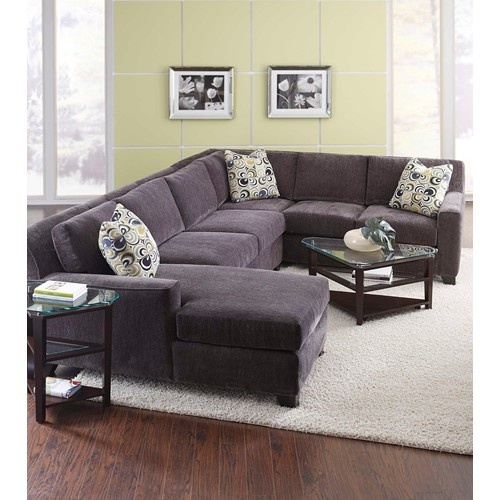 L-shaped sofa  Milan Contemporary Four Piece Sectional Sofa with RAF Chaise by Broyhill Furniture