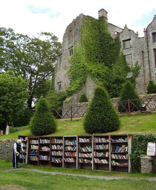 The Honesty Bookshop in the legendary bookshop town of Hay-on-Wye, in Wales