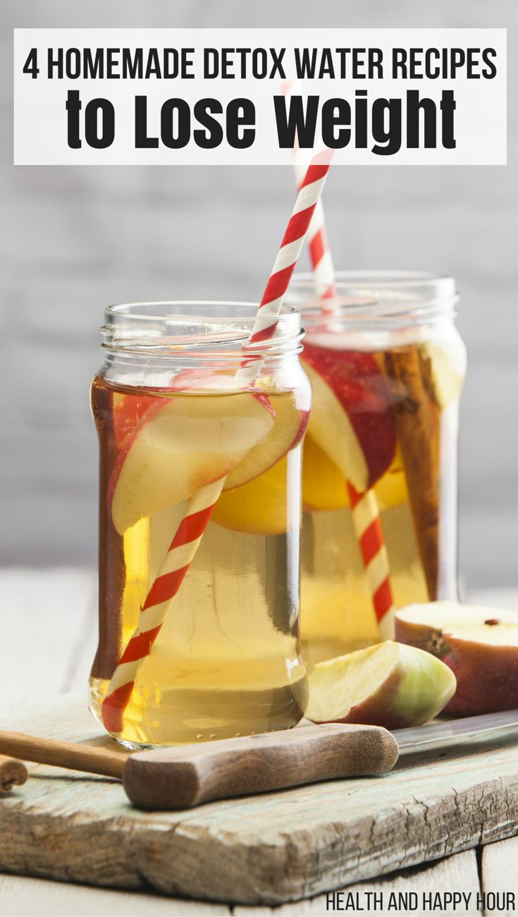 4 Homemade Detox Water Recipes To Lose Weight Diet Plan