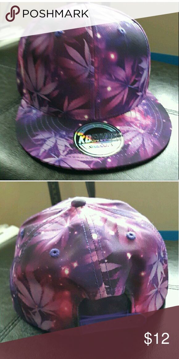 Messy_Boutiqu3 - Weed Hat Galaxy Weed leaves hat. One size fits most- Adjustable snap on back Accessories Hats