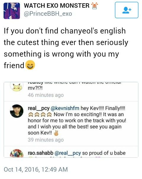 chanyeol. I can practically hear him sayin this with his little accent
