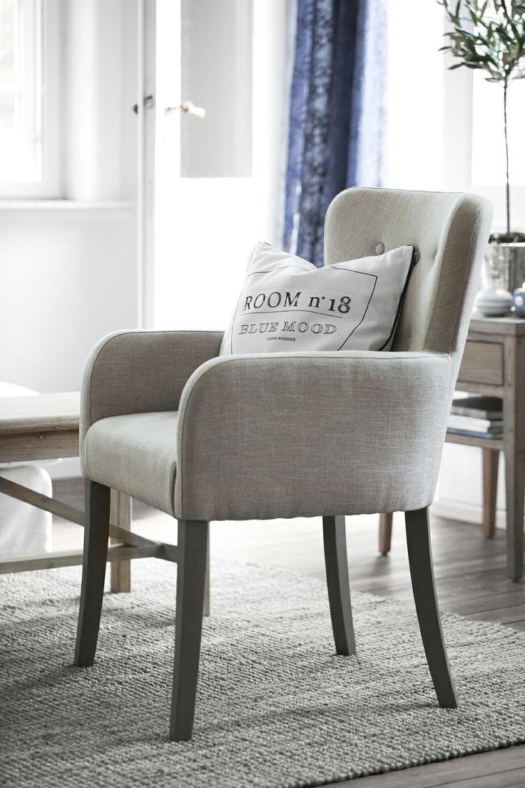 SANNE chair and BLUE MOOD cushion. Lene Bjerre, spring 2014.
