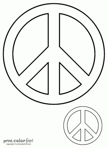 free kids stencils to print | Peace sign | Print. Color. Fun! Free printables, coloring pages ...