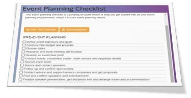 How an Event Planning Checklist Makes You a Better Planner