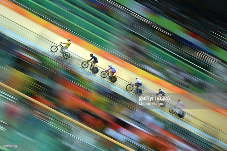 Callum Skinner of Great Britain, Christos Volikakis of Greece, Maximilian Levy of Germany, Matthew Baranoski of the United States and Denis Dmitriev of Russia compete during the Men's Keirin First Round Repechages - Heat 4 on Day 11 of the Rio 2016 Olympic Games at the Rio Olympic Velodrome on August 16, 2016 in Rio de Janeiro, Brazil.