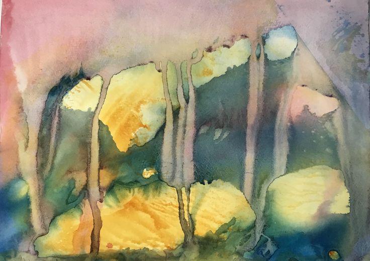 Sirkkaliisa Virtanen: In The beginning there was... , watercolor
