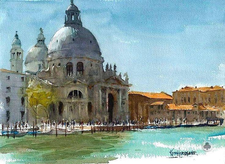 cityscape ARTIST I Keith Hornblower I Watercolor