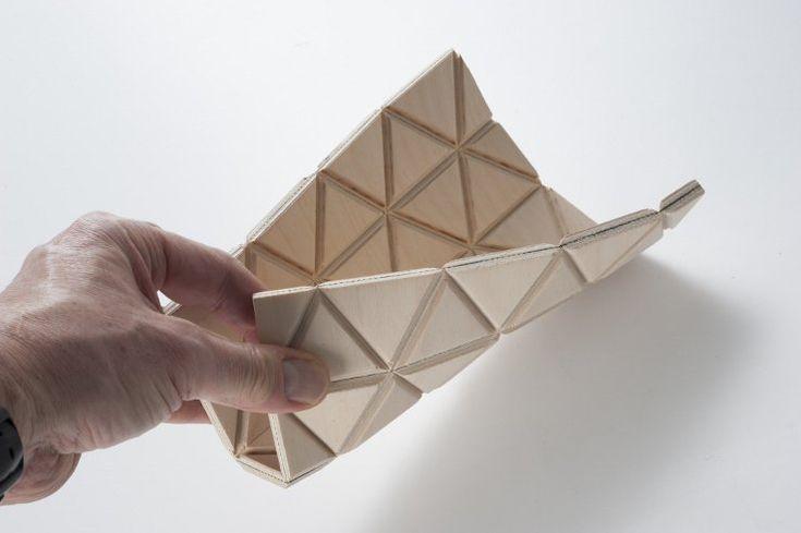 Wood-Skin: Origami Furniture