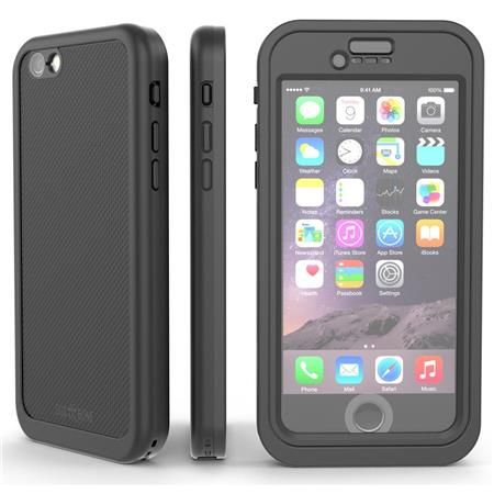 Image of Wetsuit Impact Waterproof Rugged Case for iPhone 6S Plus/6 Plus, Blackest Black