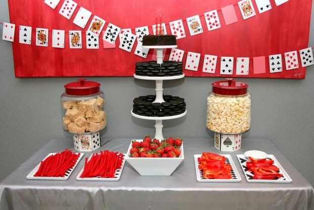 Casino Party buffet feature