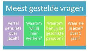 De meest gestelde vragen op een sollicitatiegesprek. www.elsdrost.nl