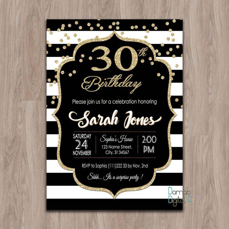 30th Birthday Invitation 30th birthday invites 40th 50th
