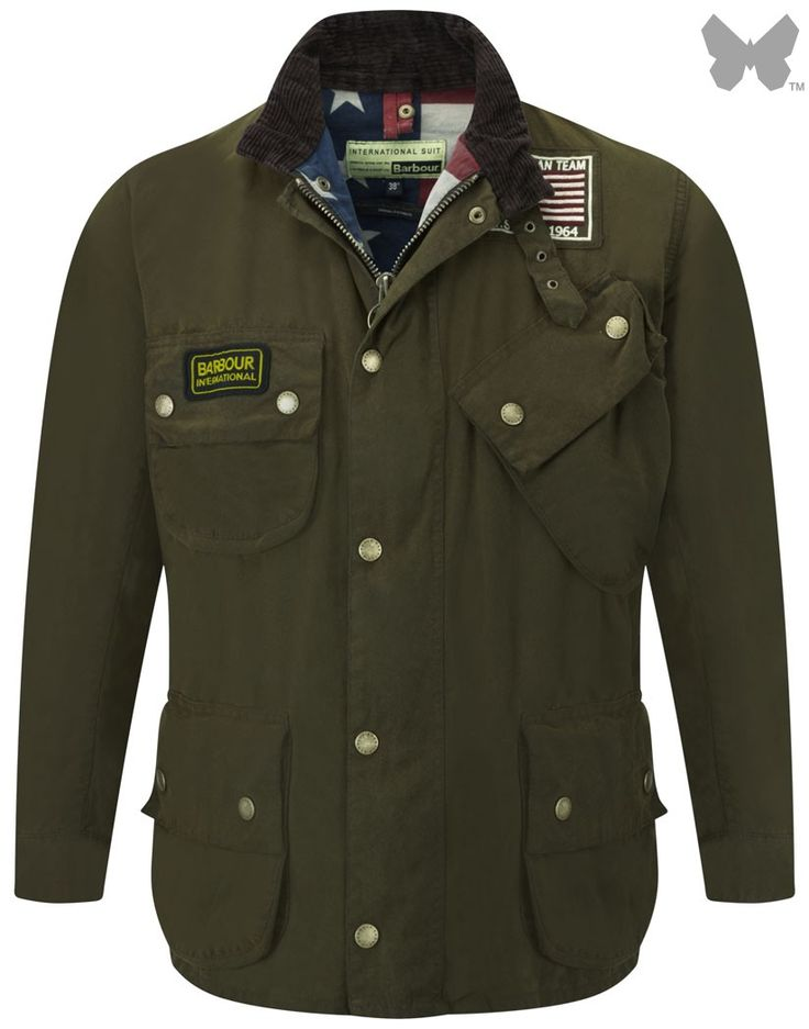 Barbour International Steve McQueen Men's Rexton Waxed Jacket - Olive MWX0330OL51 - Men's Wax Jackets - Men's Jackets and Coats - MEN | Country Attire